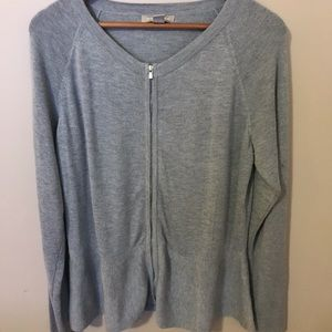 Banana Republic zip up grey sweater XL